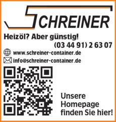 Anzeige Heizöl Schreiner