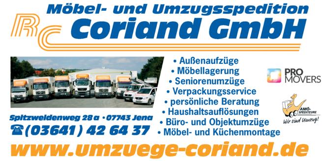Anzeige Coriand GmbH