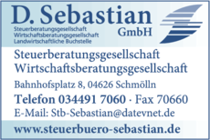 Anzeige Steuerberatung Wirtschaftsberatung D. Sebastian GmbH
