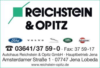 Anzeige Autohaus Reichstein & Opitz GmbH