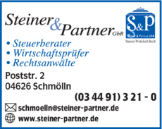 Anzeige Steiner & Partner GbR