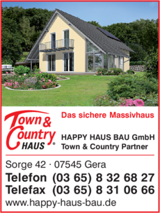 Anzeige HAPPY HAUS BAU GmbH