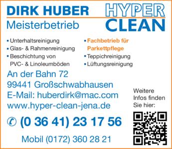 Anzeige Huber Dirk HYPER CLEAN