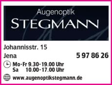 Anzeige Augenoptik Stegmann