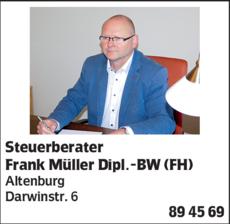 Anzeige Steuerberater Frank Müller Dipl.-BW (FH)