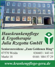 Anzeige Hauskrankenpflege & Ergotherapie Julia Rzegotta GmbH
