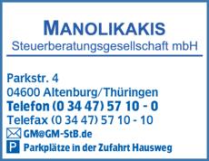 Anzeige Manolikakis Steuerberatungsgesellschaft mbH