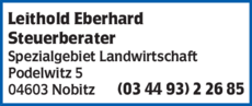 Anzeige Leithold Eberhard Steuerberater