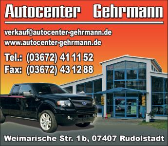 Anzeige Autocenter Gehrmann
