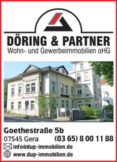 Anzeige Döring & Partner Wohn- und Gewerbeimmobilien OHG