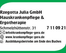 Anzeige Rzegotta Julia GmbH
