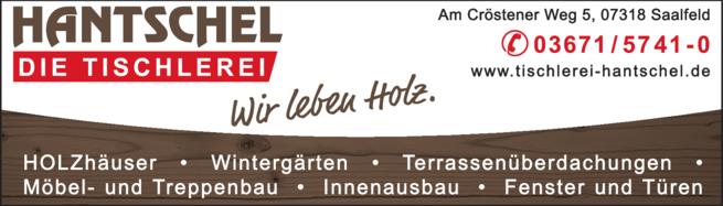 Anzeige Tischlerei Hantschel GmbH