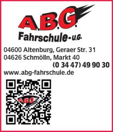 Anzeige A.B.G. Fahrschule UG