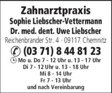 Anzeige Liebscher-Vettermann Sophie