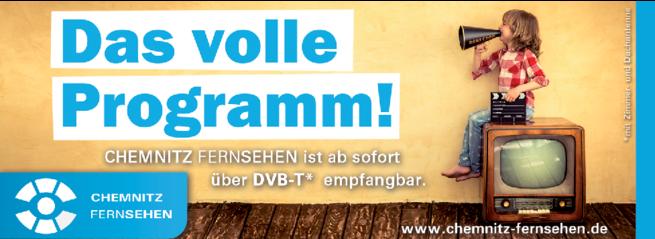 Anzeige CHEMNITZ FERNSEHEN | F.I.S. - Fernsehen in Sachsen GmbH