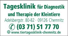 Anzeige Tagesklinik für Diagnostik und Therapie der Kleintiere