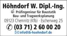 Anzeige Höhndorf, Wolfgang