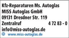Anzeige Kfz-Reparaturen Ms. Autoglas