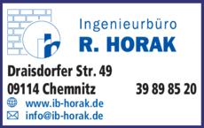 Anzeige Ingenieurbüro R. Horak