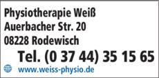 Anzeige Weiß Nicoleta Camelia Weiß Physiotherapie