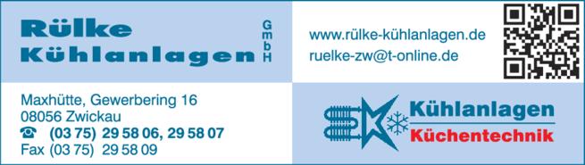 Anzeige Kühlanlagen Rülke GmbH