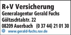 Anzeige R + V Versicherung Generalagentur Gerald Fuchs