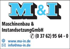 Anzeige M & I Maschinenbau und Instandsetzung GmbH