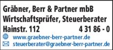 Anzeige Gräbner Berr & Partner mbB
