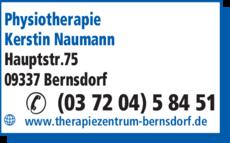 Anzeige Physiotherapie Kerstin Naumann