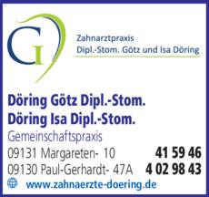 Anzeige Döring Götz Dipl.-Stom., Döring Isa Dipl.-Stom.