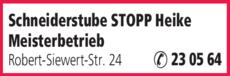 Anzeige Stopp Heike