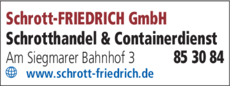 Anzeige Schrott-Friedrich GmbH