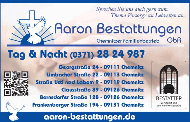 Anzeige Aaron Bestattungen GbR