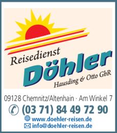 Anzeige Reisedienst Döhler Hausding & Otto GbR
