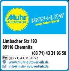 Anzeige Muhr, Manfred