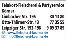 Anzeige Feinkost-Fleischerei & Partyservice Körner
