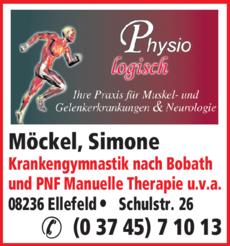 Anzeige Physiotherapie Möckel Simone