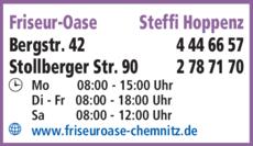 Anzeige Friseur-Oase Steffi Hoppenz
