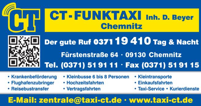 Anzeige CT-Funktaxi