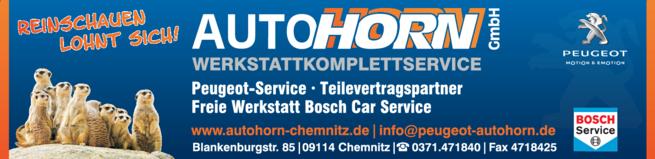 Anzeige PEUGEOT-Autohaus Auto Horn GmbH