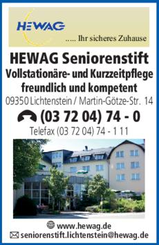 Anzeige HEWAG Seniorenstift