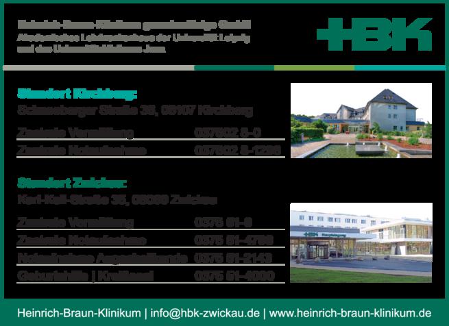 Anzeige HBK Heinrich-Braun-Klinikum
