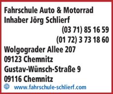 Anzeige Fahrschule Auto & Motorrad Inhaber Jörg Schlierf