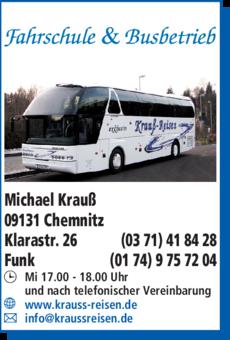 Anzeige Fahrschule & Busbetrieb Michael Krauß