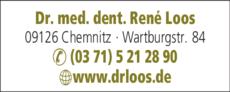 Anzeige Loos René Dr. med. dent.