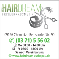 Anzeige Salon HAIRDREAM, Inh. Kathleen Löbel