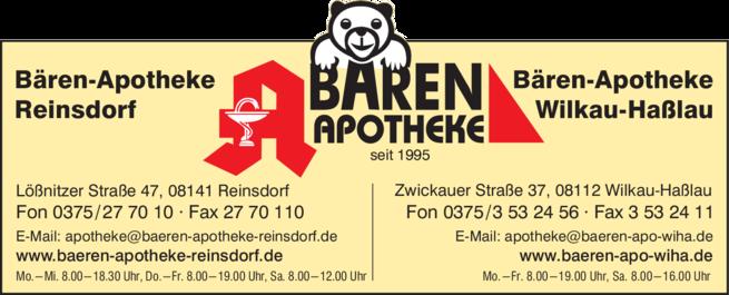 Anzeige Bären-Apotheke, Dr. Bert Naumann