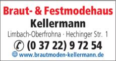 Anzeige Braut- & Festmodehaus Kellermann