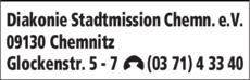 Anzeige Diakonie Stadtmission Chemnitz e.V.