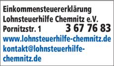 Anzeige Einkommensteuererklärung Lohnsteuerhilfe Chemnitz e.V.